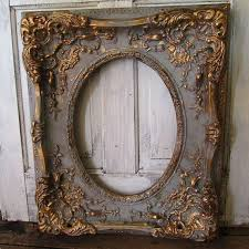 antique picture frames. Large Ornate Picture Frame Wood W/ Gesso Antique French Farmhouse  Distressed Gray And Gold Wall Hanging Home Decor Anita Spero Design Frames T