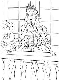 Clicca su disegni da colorare di la principessa barbie. Barbie Barbie Princess On The Balcony