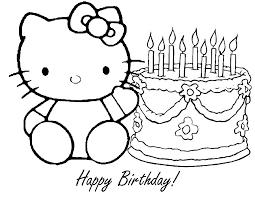 Small Picture Happy birthday coloring pages hello kitty and cake ColoringStar