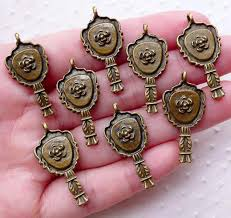 Victorian hand mirror 19th Century Hand Victorian Hand Mirror Charms 8pcs 14mm 29mm Antique Bronze Miniaturesweet Kawaii Resin Crafts Decoden Cabochons Supplies Jewelry Making Miniaturesweet Victorian Hand Mirror Charms 8pcs 14mm 29mm Antique Bronze
