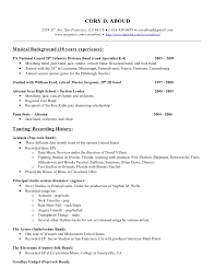 ... Musician Resume Sample Skill resume, Musicdrumming Resume Cory D Aboud  Music Resume For High School Student: Free ...