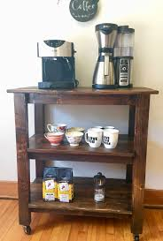 rustic wood kitchen cart awesome wooden coffee cart coffee bar kitchen wooden rustic of inspirational rustic
