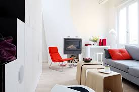 Attractive Gallery Of Deco Gris Et Rouge Salon