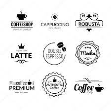 Lettering Templates Logo Typography Inspiration Retro Vintage Coffee Labels