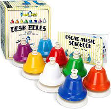 West music's collection of kids' handbells and desk bells are a winning addition to any classroom. Amazon Com Miniartis Desk Bells Set For Kids 8 Notes Diatonic Colorful Metal Hand Bells Kids Musical Instruments Music Songbook Carry Case Included Great Holiday Birthday Gift For