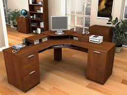 decorative l shaped desk wood