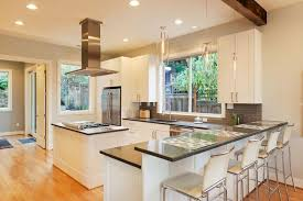 This Beautiful, Bright Kitchen Utilizes The White And Grey Color Scheme  That Is Popular In