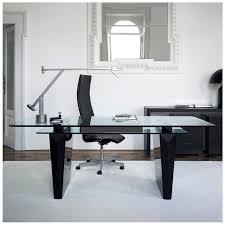 modern glass office desk. Top 59 Bang-up L Desk Metal Computer Glass For Office Modern Finesse O