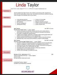 Teacher Resume Examples Elementary School Free Resume Templates