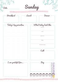Download Printable 7 Days Weekly Planner Pdf
