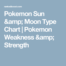 Destiny 2 Weakness Chart Pokemon Sun Moon Type Chart Pokemon Weakness Strength
