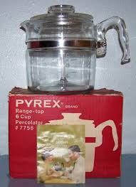 A great working nastaligic coffee perculator! Vintage 6 Cup Pyrex Glass Coffee Pot And 33 Similar Items