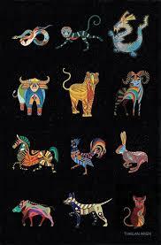 complete set of 12 chinese zodiac animal art prints 11x11 art by thailan when