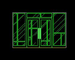 sliding doors glass 2 free autocad drawing cad blocks