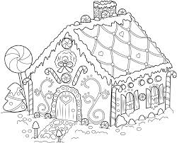 Gingerbread House Coloring Pages To Print Gingerbread House ...