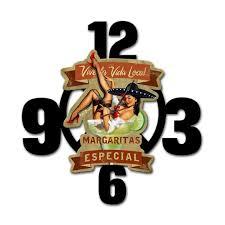Margaritas Especial Pin Up Girl Clock Layered 3D | Man Cave Decor ...