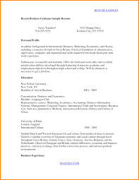 Resume For Recent College Graduate Inspirational Example Of New