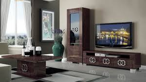 Tv Stands For Lcd Tvs Walnut Brown Tv Stand With Side Vitrine Shelves Hialeah Florida