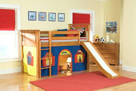 bunk bed with slide and tent. Lofted Bed With Slide And Tent Loft Bunk Kid Beds For L