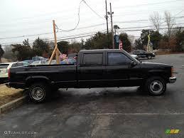 Onyx Black 2000 Chevrolet Silverado 3500 LS Crew Cab 4x4 Dually ...