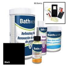 diy bathtub refinishing kit with slip guard in black