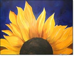 sunflower oil painting on cotton cardboard cm by pastel sunflower oil painting