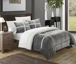 architecture sherpa comforter set chic home chloe reviews wayfair 5 luxury king bed bath and beyond
