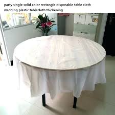 plastic party tablecloths for table cloth c cover round with elastic 5 pieces disposable plastic party tablecloths