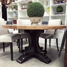 Distressed Black Kitchen Table Lets Dine Canalside Interiors Artisan Parquetry Top Round