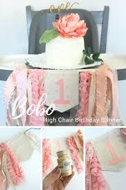 diy boho 1st birthday high chair banner