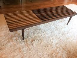 mid century modern walnut maple slat