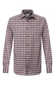 Мужская бордовая хлопковая <b>рубашка ETON</b> — купить за 16250 ...