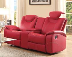furniture glamour reclining loveseat with center console for