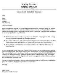 Cover Letter Example Teacher Cover Letter For Resume Teaching Job