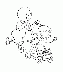 Caillou Coloring Pages Free Coloring Home