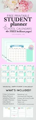 Planner Printables For Students 40 Free Student Planner Printables For Back To School