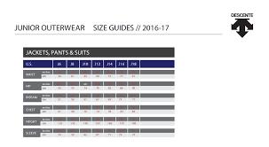 Descente Size Guide