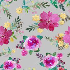 Romantische Naadloze Bloemmotief Met Roze Bloemen En Blad Afdrukken