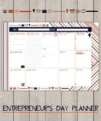 Business Day Planners Entrepreneurs Day Planner Printable To Do List Striped Business