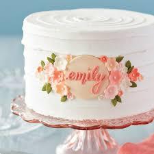 Elegant Floral Birthday Cake Wilton