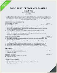 Food Service Resume Samples Inspiration Sample Resume Of Food Service Worker Perfect Food Service Resume