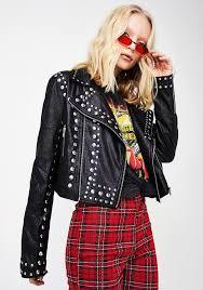 rock stud moto jacket