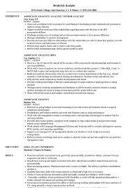 Associate Analyst Sample Resume Associate Analyst Resume Samples Velvet Jobs 1