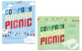 Company Picnic Template Company Summer Picnic Poster Template Design