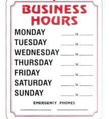 Store Hours Sign Shmeleva Info