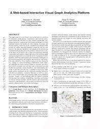 Pdf A Web Based Interactive Visual Graph Analytics Platform