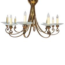 chandelier large mid century french 1950 s brass chandelier with glass bobeches mid century french
