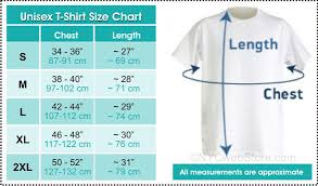 T Shirt Size Chart For I Love Ny T Shirts And Other T Shirts