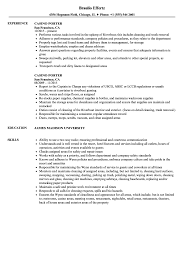 Casino Porter Resume Samples Velvet Jobs