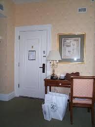 the bellevue hotel view to original old door from king bed